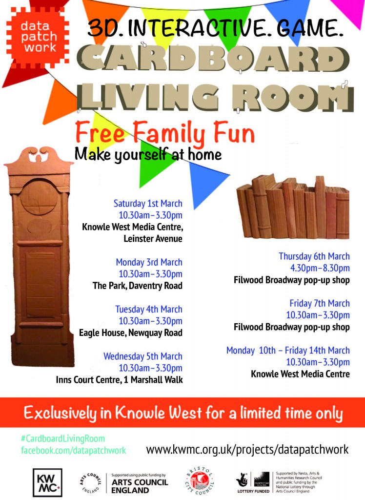Cardboard Living Room Flyer