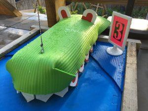 The winning mini golf design - Novers gNasher green crocodile